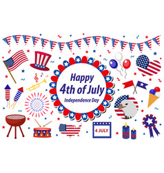 independence day america celebration in usa icons vector image