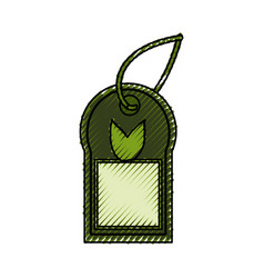 isolated ecologic label tag vector image