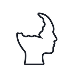 silhouette head bubble speech outline vector image