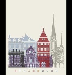Strasbourg skyline poster vector image