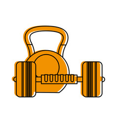weight lifting icon image vector image