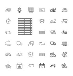 33 deliver icons vector image