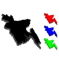 3d map of bangladesh vector