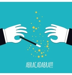 Abracadabra cartoon concept Cartoon Magicians vector image