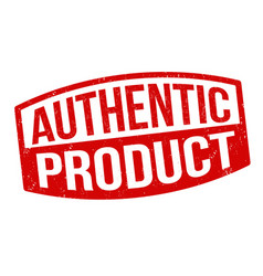 authentic product grunge rubber stamp vector image