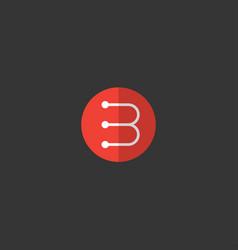 B flat logo vector