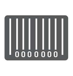 barcode glyph icon e commerce and marketing vector image