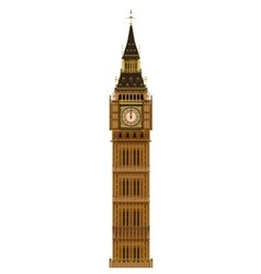 Big Ben Isolated vector image