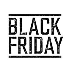 Black Friday Stamp vector
