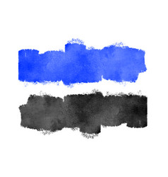 blue and black watercolor texture background vector image