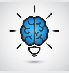 brain light bulb icon idea concept vector image