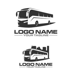 Bus city logo vector