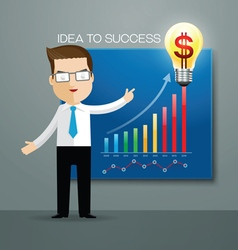 business man idea success vector image