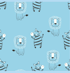 Cartoon tropical animal pattern vector