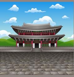 changdeokgung palace flat d vector image