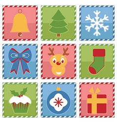 Christmas squares vector