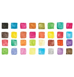 Colorful watercolor square icons vector image