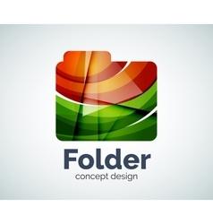Computer folder logo template vector