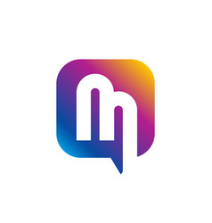 concept of m letter logo vector image