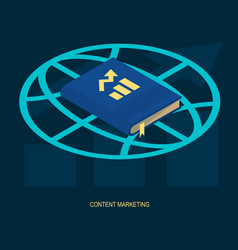content marketing web solution vector image