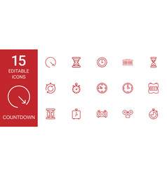 countdown icons vector image