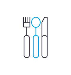 cutlery linear icon concept cutlery line vector image