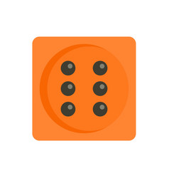 Dice icon flat style vector