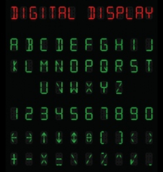 digital alphabet vector image