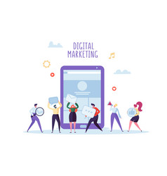 Digital marketing social network seo concept vector
