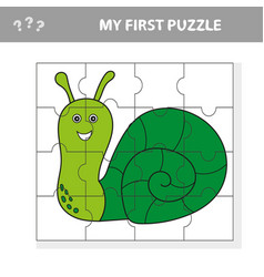 educational puzzle game for children kids vector image