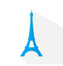 Eiffel Tower in style flat design vector image