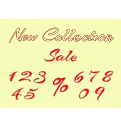embroidered words and numbers for retail vector image