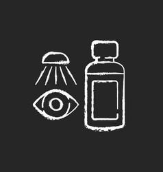 eyewash chalk white icon on black background vector image