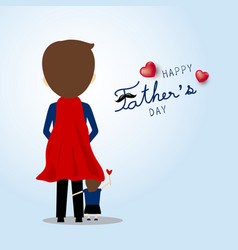 fathers day card design super dad vector image