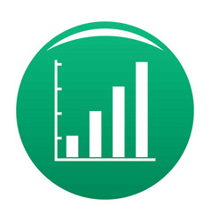 finance chart icon green vector image