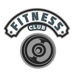 Fitness club badge logo image vector