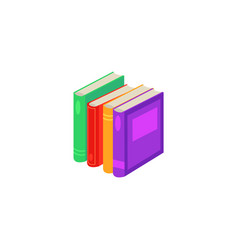 flat book pile or column vector image