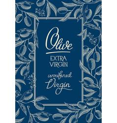 Floral blue vintage poster vector