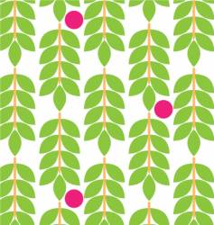 floral fruit pattern vector image