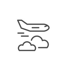 flying plane line icon vector image