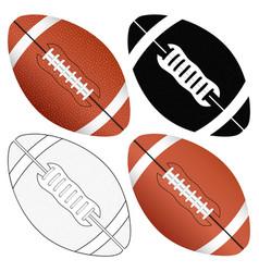 Football ball set vector