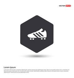 Football boot icon hexa white background icon vector