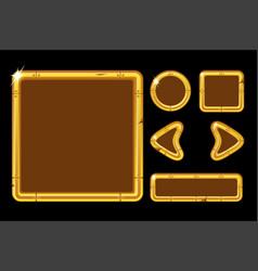 Game ui kit golden user interface for vector