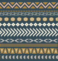 geometric aztec blue seamless pattern texture vector image