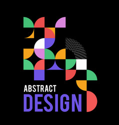 geometric design with shapes in style vector image