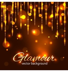 Glamour gold background Glamorous background vector