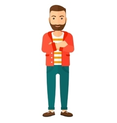 Happy man with crossed arms vector
