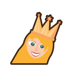 Head girl crown celebration vector