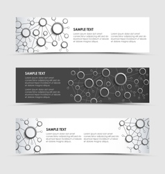 Horizontal banners with network connection design vector image