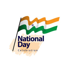 India national day celebration template design vector